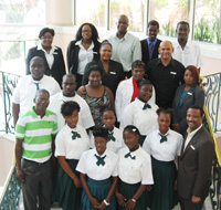 Students from Central Andros High School's hospitality program